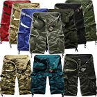 Mens Combat Cargo Shorts Tactical Military Army Half Pants Casual Work Trousers