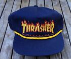 NEW THRASHER FLAME ROPE EMBROIDERED LOGO NAVY MENS SNAPBACK HAT RHTVNS 148