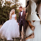 Beach A line Wedding Dresses Soft Tulle Backless Plus Size Bridal Gown Custom
