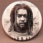 """1981 PETER TOSH WANTED DEAD OR ALIVE 2.25"""" celluloid pinback button REGGAE"""
