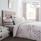Catherine Lansfield Canterbury Blush Glitter Floral Quilt/Duvet Cover Collection image