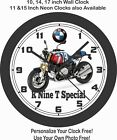 2019 BMW R NINE T SPECIAL MOTORCYCLE WALL CLOCK-TRIUMPH, HARLEY, INDIAN, APRILIA $28.99 USD on eBay