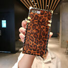 Square Leopard Phone Case For iPhone X XS Max XR 6 7 8 Samsung S8 S9 Huawei P20