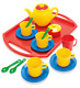 Dantoy Tea Set on Tray, Role Play Tea Party with 18 Pieces Pretend Toys for Kids