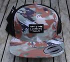 NEW RHTELM-35 ELEMENT SKATEBOARD CAMO TRUCKER MENS SPORT SNAPBACK HAT
