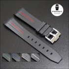 20mm Rubber Watch Strap Watch Band With Curved Ends For Rolex