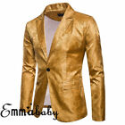 Emmababy Men's Slim Fit Stylish Formal Casual Button Suit Blazer Coat Jacket