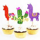alpacacoke cactus cake toppers picks for hawaiian party birthday supplies JH