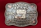 VINTAGE TROPHY RODEO BUCKLE 1997 PANDORA TEXAS CHAMPION BULL RIDER  332