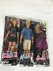 "barbie fashionistas 12"" dolls- ken preppy check-rockkstar glam        lot of 3"