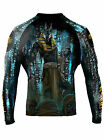 Raven Fightwear Men's The Gods of Egypt Anubis Rash Guard MMA BJJ Black
