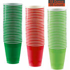 18 oz Party Cups, 96 Count - Festive Green, Red, Lime Green - 32 Each Color
