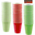 18 oz Party Cups, 96 Count - Leaf Green, Red, Lime Green - 32 Each Color