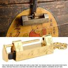 Chinese Old Style Antique Brass Carved Flower Padlock Lock and Key Spacing Craft
