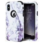 iPhone 5 se 5s X Xs Max XR Hard Marble Case Cute Cover 360 Protective