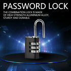 3 Digit Combination Padlock Aluminium Alloy Password Lock For Door Case Fence