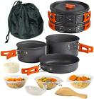 Wealers Camping Cookware 11 Piece Outdoor Mess Kit Backpacking,Trailblazing