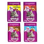 Whiskas 1+ Complete Adult Cat Dry Food Biscuits with Chicken Beef Tuna Duck 2kg