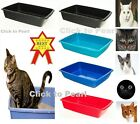 UK Made Cat Kitten Pet Puppy Dog  Potty Toilet Litter Open Plastic Training Tray