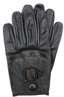 Riparo Genuine Leather Full-Finger Driving Gloves - Brown