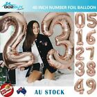 "40"" Giant Rose Gold Foil Number Balloon Birthday Wedding Party Decoration"