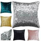 Plain Luxury Crushed Velvet Cushion Cover With Piped Edges 18 Inch ® Red Rainbow