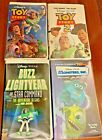 Pixar Disney VHS Lot of Toy Story, Toy Story 2, Monster, Inc., Buzz Light Year