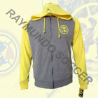Club America Track Jacket Hoodies Rhinox Gray and Yellow Adult