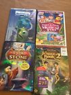 Disney 4 Dvds The Jungle Book 2 -New, The Sword In The Stone, Monster Inc, Pooh