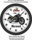 2019 INDIAN SCOUT MOTORCYCLE WALL CLOCK-HARLEY DAVIDSON, HONDA, TRIUMPH $51.99 USD on eBay