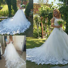New Spaghetti Strap A-line Lace Wedding Dresses Garden Plus Size Bridal Gowns
