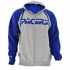 Men's NBA Indiana Pacers Full-Zip Jacket by Hardwood Classics in Gray Big & Tall