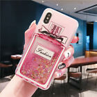 Bling Dynamic Liquid Glitter Quicksand Bow Perfume Bottle Shockproof Case Cover