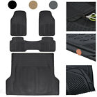 Car Rubber Floor Mats with Cargo Trunk Liner 4 Pieces Heavy Duty Set Trimmable $39.50 USD on eBay