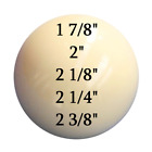 "White Cue Ball 1 7/8"" inch 2"" inch 2 1/8"" inch 2 1/4"" inch 2 3/8"" inch £4.79 GBP on eBay"