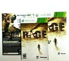 (MANUAL AND ARTWORK ONLY) (NO GAME) XBOX 360 - Rage
