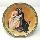 """Limited Edition """"A Couple's Commitment"""" Collector Plate by Norman Rockwell, 1985"""