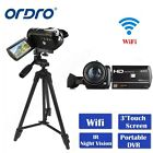 """Ordro Wifi 3.0"""" Touch Screen Digital Camera 24MP 1080P 18X Zoom IR Camcorder"""