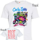 "CIRCLE JERKS,""10th Anniversary Tour"", Cool White T-SHIRT, Sizes: S-5XL, T-1353"