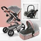 Baby Stroller 3 In 1 Pram With Car Seat Travel System Baby Stroller With Car Sea