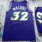 Utah Jazz #12 John Stockton #32 Karl Malone Throwback Swingman Basketball Jersey