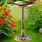 Bird Bath Feeder Bowl With Solar Light Garden & Patio Bird Feeding Table Station