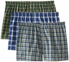 Fruit of the Loom Men's Boxer 3 Pack Big Man Sizes 3X-4X-5X Plaid Tag Free