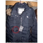 ABERCROMBIE & FITCH WOMENS RENEE DOWN JACKET COAT NAVY SIZE LARGE A&F