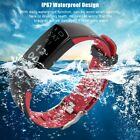 "0.97"" Touch Control IP67 Waterproof Wristband Blood Pressure HeartRate Watch"