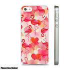 BEAUTIFUL FLAMINGO HEARTS PATTERN  ART CASE FITS ALL  IPHONE MODELS