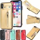 For Iphone Xs Xr 6s 7 8 Plus Magnetic Flip Wallet Card Slot Leather Case Cover
