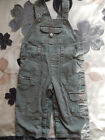 BABY BOYS GREEN/BROWN DUNGAREES TROUSERS AGE 12-18 Months EXCELLENT NEW CONDIT!