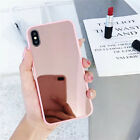 Bumper Slim Case Cute Clear Girly Mirror Back Protective Covers For iPhone X MAX