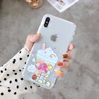 Lovely Sumikko Gurashi  Milk Tea Clear Soft Case Cover for iPhone Xs Max 7 8 XR